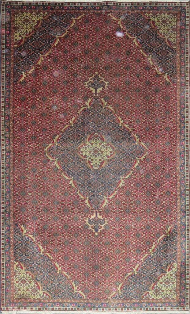 "Persian hamedan Authentic Hand-Knotted Traditonal Vintage Persian Rugs Natural Wool and Cotton Multicolor Area Rug  8'3"" X 5'0"" ABC-PER-696"