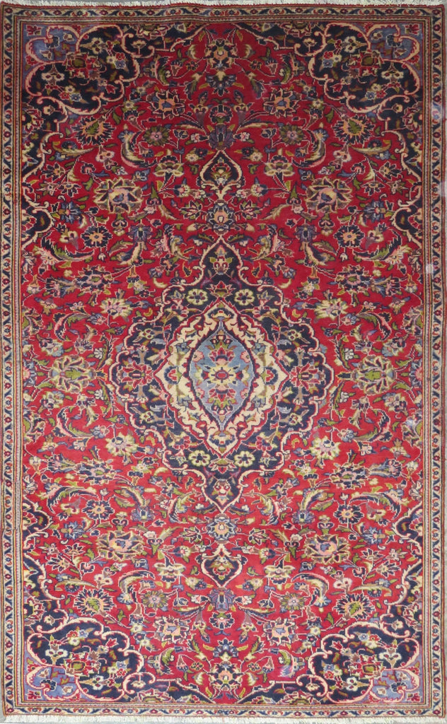 "Persian hamedan Authentic Hand-Knotted Traditonal Vintage Persian Rugs Natural Wool and Cotton Multicolor Area Rug  7'9"" X 4'9"" ABC-PER-701"