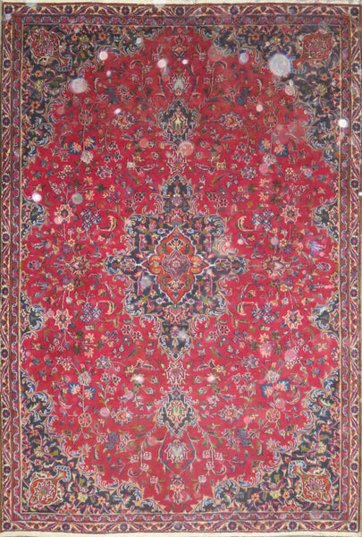 "Persian hamedan Authentic Hand-Knotted Traditonal Vintage Persian Rugs Natural Wool and Cotton Multicolor Area Rug  8'5"" X 5'9"" ABC-PER-707"