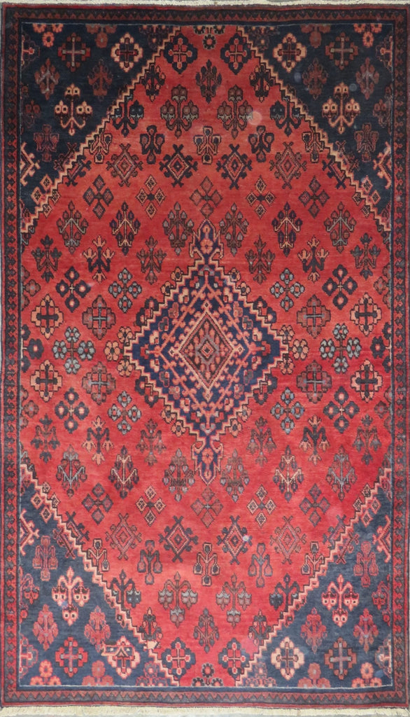 "Persian hamedan Authentic Hand-Knotted Traditonal Vintage Persian Rugs Natural Wool and Cotton Multicolor Area Rug  8'4"" X 4'9"" ABC-PER-712"