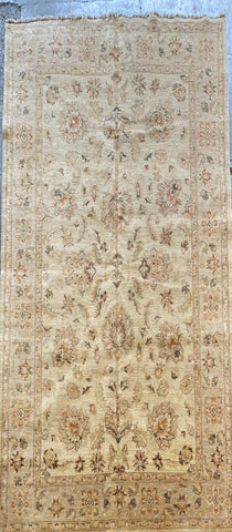PAKISTANI PESHAWAR TRADITIONAL HAND-KNOTTED RUG MADE WITH NATURAL WOOL AND COTTON 9'0'' X 6'0''  ABCR1750
