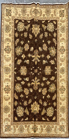 PAKISTANI GHAZNI TRADITIONAL HAND-KNOTTED RUG MADE WITH NATURAL WOOL AND COTTON 6'1'' X 8'8''  ABCR1761