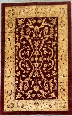 AFGHANI TRADITIONAL HAND-KNOTTED RUG MADE WITH NATURAL WOOL 6'9'' X 9'8'  ABC166013