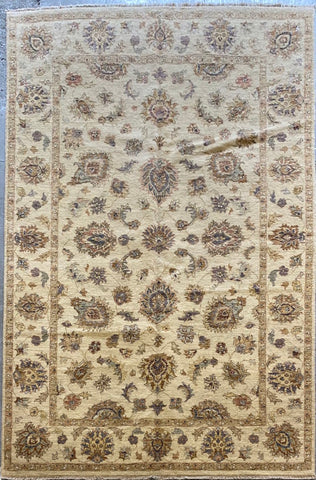PAKISTANI PESHAWAR TRADITIONAL HAND-KNOTTED RUG MADE WITH NATURAL WOOL AND COTTON 6'2'' X 8'10''  ABCR01844