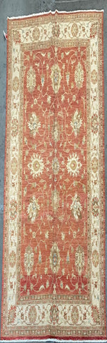 AFGHANI TRADITIONAL HAND-KNOTTED RUG MADE WITH NATURAL 100% WOOL PILE 7'0'' X 9'8'  ABC-MP1396