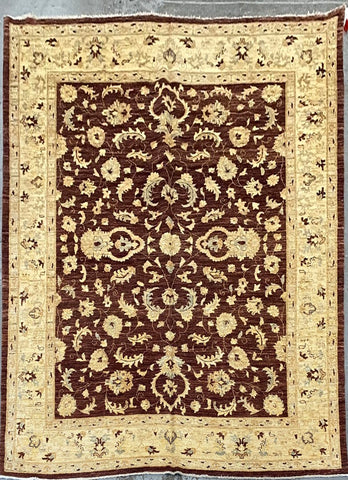 PAKISTANI PESHAWAR TRADITIONAL HAND-KNOTTED RUG MADE WITH NATURAL WOOL AND COTTON 10'7'' X 8'6''  ABC-PK10687