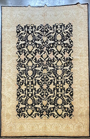 AFGHANI OUSHAK HAND-KNOTTED RUG MADE WITH NATURAL 100% WOOL 11'7'' X 9'0'  ABC1214
