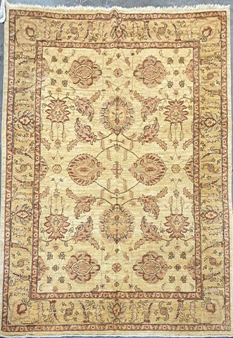 PAKISTANI KARACHI TRADITIONAL HAND-KNOTTED RUG MADE WITH NATURAL WOOL AND COTTON 12'2'' X 8'1''  ABCR01736
