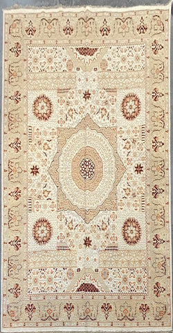 PAKISTANI PESHAWAR TRADITIONAL HAND-KNOTTED RUG MADE WITH NATURAL WOOL AND COTTON 12'0'' X 8'11''  ABCR01824