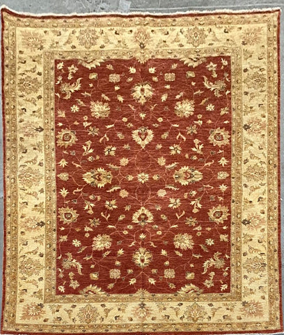 PAKISTANI PESHAWAR TRADITIONAL HAND-KNOTTED RUG MADE WITH NATURAL WOOL AND COTTON 11'07'' X 8'09''  ABCR03161