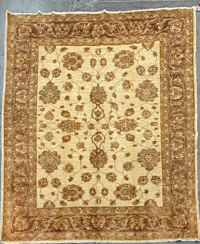PAKISTANI TRADITIONAL HAND-KNOTTED RUG MADE WITH NATURAL WOOL 10'0'' X 8'2''  ABC10189