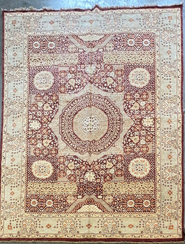 PAKISTANI PESHAWAR TRADITIONAL HAND-KNOTTED RUG MADE WITH NATURAL WOOL AND COTTON 12'1'' X 9'0''  ABCR01820