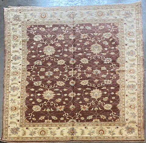 PAKISTANI PESHAWAR TRADITIONAL HAND-KNOTTED RUG MADE WITH NATURAL WOOL AND COTTON 11'7'' X 8'11''  ABCR01833