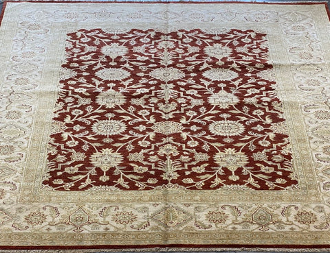 PAKISTANI TRADITIONAL HAND-KNOTTED RUG MADE WITH NATURAL WOOL AND COTTON 10'0'' X 8'0''  ABC10678