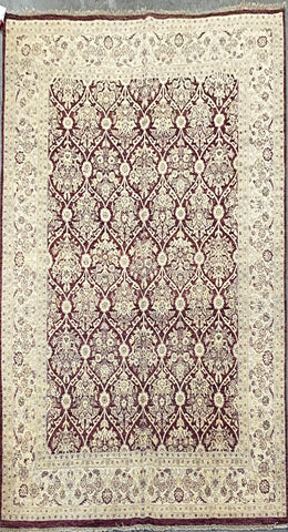 PAKISTANI TRADITIONAL HAND-KNOTTED RUG MADE WITH NATURAL WOOL AND COTTON 10'0'' X 8'0''  ABC5083