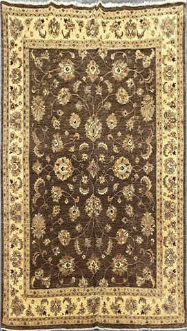 PAKISTANI PESHAWAR TRADITIONAL HAND-KNOTTED RUG MADE WITH NATURAL WOOL AND COTTON 9'8'' X 7'11''  ABCR01823