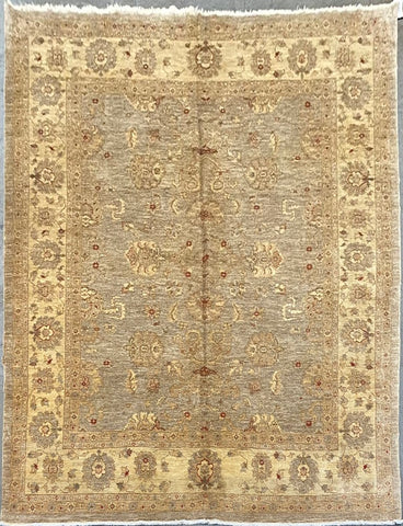 "Pakistani Traditional Style Hand-Knotted Natural Wool and Cotton Rug 12'5'' X 9'2"" ABCPK0"