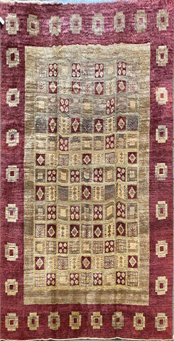 "Pakistani Traditional Style Hand-Knotted Natural Wool and Cotton Rug from Peshawar 9'0'' X 12'3"" ABCPK04549"