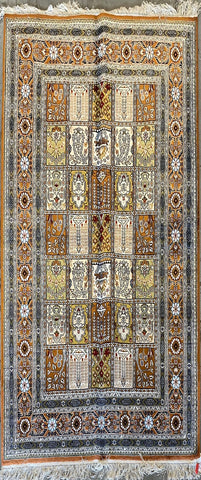 Turkish Traditional Style Hand-Knotted 100% Silk Rug 6'0'' X 4'0'' ABCTK001
