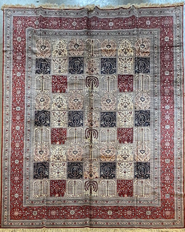 Turkish Traditional Style Hand-Knotted 100% Silk Rug 12' X 10' ABCTK012