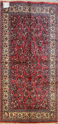 "Persian Sarough Traditional Style Hand-Knotted Natural Wool and Cotton Rug  8'4'' X 5'6"" ABCR02871"