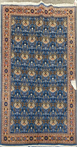"Persian Nain Traditional Style Hand-Knotted Natural Wool and Silk Rug  7'10"" X 5'1"" ABCR02879"
