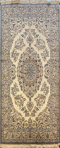 Persian Nain Traditional Style Hand-Knotted Natural Wool and Cotton Rug  8' X 5' ABCR02426