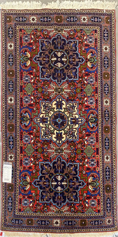 "Persian Ardabil Traditional Style Hand-Knotted Natural Wool and Silk Rug  6'6"" X 4'7'' ABCR-2483"