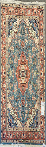 "Persian Yazd Traditional Style Hand-Knotted Natural Wool and Cotton Rug  6'0"" X 4'3'' ABCR02460"