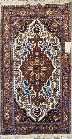 "Persian Ardabil Traditional Style Hand-Knotted Natural Wool and Silk Rug  6'6"" X 4'7'' ABCR02527"