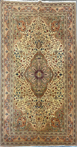 "Persian Ardabil Traditional Style Hand-Knotted Natural Wool and Silk Rug  7'4'' X 4'8"" ABCR02529"