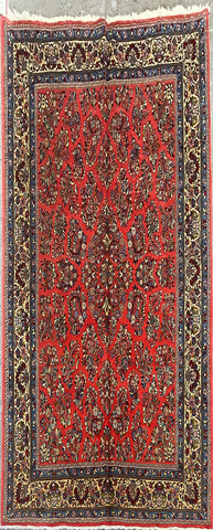 "Persian Sarough Traditional Style Hand-Knotted Natural Wool and Cotton Rug 9'0"" X 6'6"" ABCR-2877"