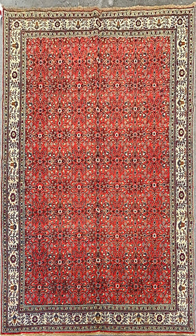 "Turkish Traditional Style Hand-Knotted Natural Wool Rug 9'4"" X 6'6'' ABCTK005"