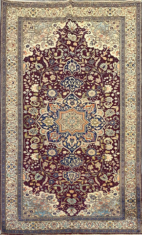 "Turkish Hand-Knotted Traditional Style Wool Rug 9'9"" X 6'4"" ABCTK007"