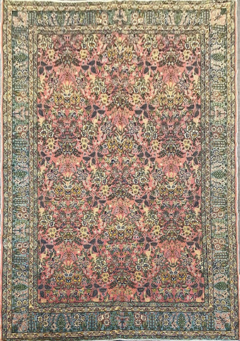"Turkish Hand-Knotted Traditional Style Natural Wool Rug 9'4"" X 6'5"" ABCTK011"