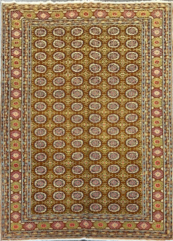 "Turkish Hand-Knotted Traditional Style Natural Wool Rug 6' X 9'4"" ABCTK004"