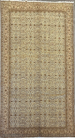 "Turkish Traditional Style Natural Wool and Cotton Rug 6' X 9'4"" ABCTK005"
