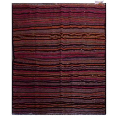 PERSIAN VINTAGE HAND-KNOTTED KILIM MADE WITH NATURAL WOOL AND COTTON 150 X 130cm ABC2001
