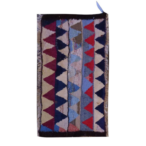 PERSIAN VINTAGE HAND-KNOTTED KILIM MADE WITH NATURAL WOOL AND COTTON 135 X 50cm ABC1574