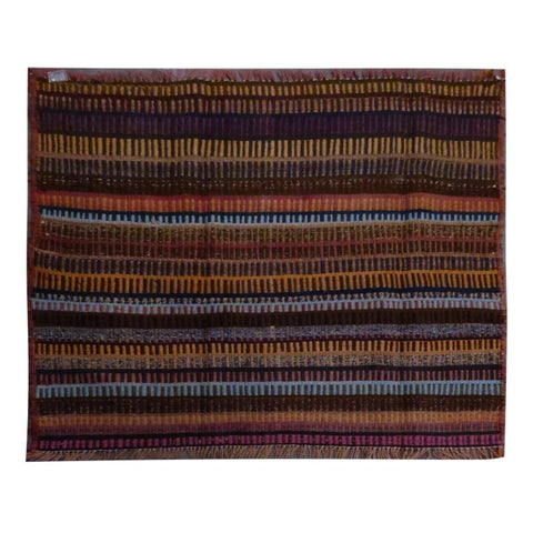 PERSIAN VINTAGE HAND-KNOTTED KILIM MADE WITH NATURAL WOOL AND COTTON 112 X 108cm ABC1616