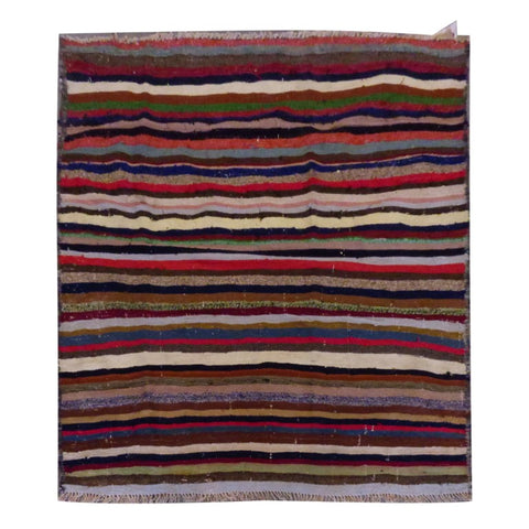 PERSIAN VINTAGE HAND-KNOTTED KILIM MADE WITH NATURAL WOOL AND COTTON 152 X 113cm ABC1524