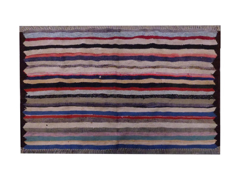 PERSIAN VINTAGE HAND-KNOTTED KILIM MADE WITH NATURAL WOOL AND COTTON 134 X 80cm ABC1709