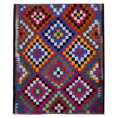 PERSIAN VINTAGE HAND-KNOTTED KILIM MADE WITH NATURAL WOOL AND COTTON 206 X 180cm ABC1612