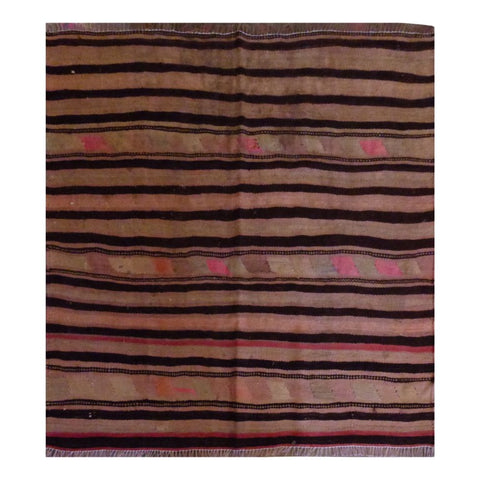 PERSIAN VINTAGE HAND-KNOTTED KILIM MADE WITH NATURAL WOOL AND COTTON 135 X 102cm ABC1850