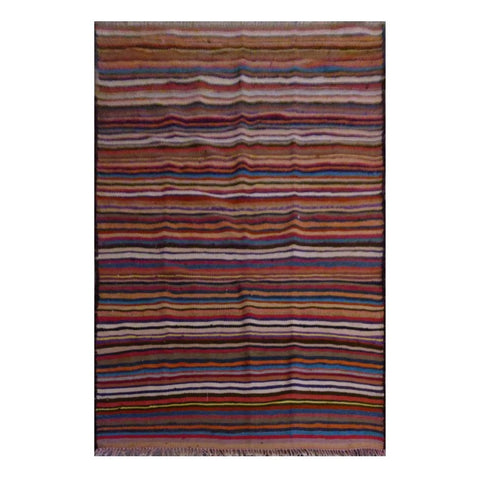 PERSIAN VINTAGE HAND-KNOTTED KILIM MADE WITH NATURAL WOOL AND COTTON 234 X 127cm ABC1900
