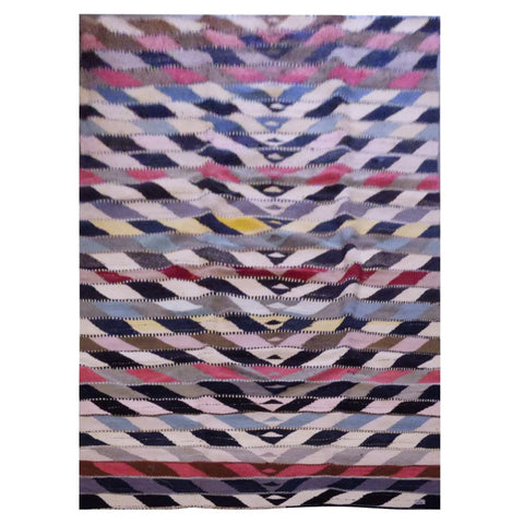 PERSIAN VINTAGE HAND-KNOTTED KILIM MADE WITH NATURAL WOOL AND COTTON 300 X 146cm ABC1677