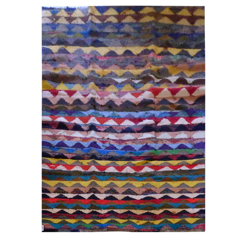 PERSIAN VINTAGE HAND-KNOTTED KILIM MADE WITH NATURAL WOOL AND COTTON 262 X 140cm ABC1772