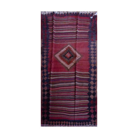 PERSIAN VINTAGE HAND-KNOTTED KILIM MADE WITH NATURAL WOOL AND COTTON 200 X 110cm ABC1876