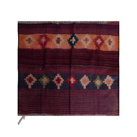 PERSIAN VINTAGE HAND-KNOTTED KILIM MADE WITH NATURAL WOOL AND COTTON 144 X 90cm ABC1948
