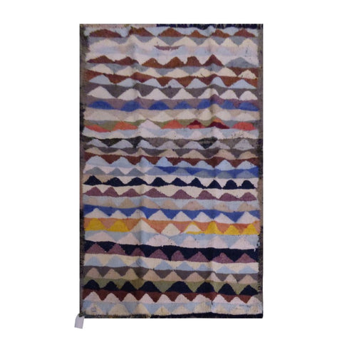 PERSIAN VINTAGE HAND-KNOTTED KILIM MADE WITH NATURAL WOOL AND COTTON 188 X 125cm ABC1877